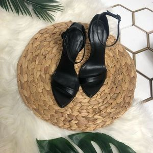 Zara Barely There Heels Black